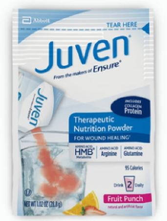 Arginine / Glutamine Supplement Juven® Fruit Punch 28.8 Gram Individual Packet Powder