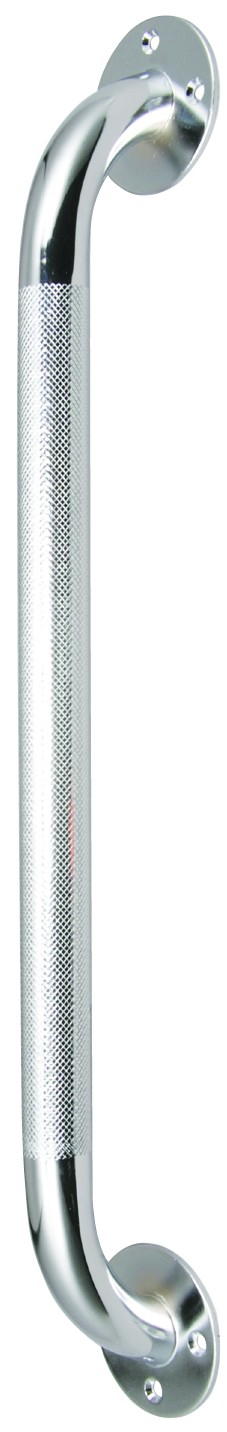 "Knurled grab bar diameter provides a no-slip grip Mounts vertically or horizontally 1 ½"" distance from wall Attractive retail packaging"