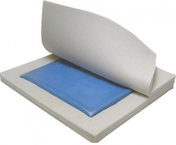 "Gel ""E"" Skin Protection 3"" Gel/Foam Wheelchair Cushion"