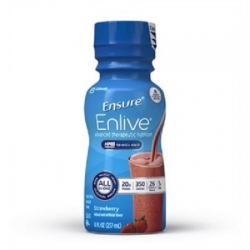 Oral Supplement Ensure®Enlive Strawberry 8 oz. Bottle Ready to USe