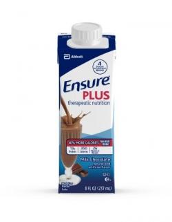 Oral Supplement Ensure Plus Chocolate 8 oz. Recloseable Tetra Carton Ready to Use