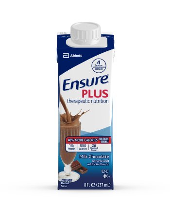 Oral Supplement Ensure Plus Chocolate 8 oz. Recloseable Tetra Carton Ready to Use